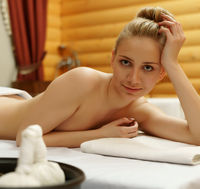 Pretty girl posing before getting thai massage