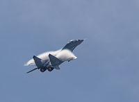 Moscow Russia Zhukovsky Airfield 31 August 2019: aerobatic MiG-29 perfoming demonstration flight of the international aerospace salon MAKS-2019