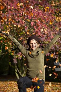 Spaß und Freude im Herbst