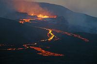 Der Vulkan Fagradalsfjall - Nachtaufnahme