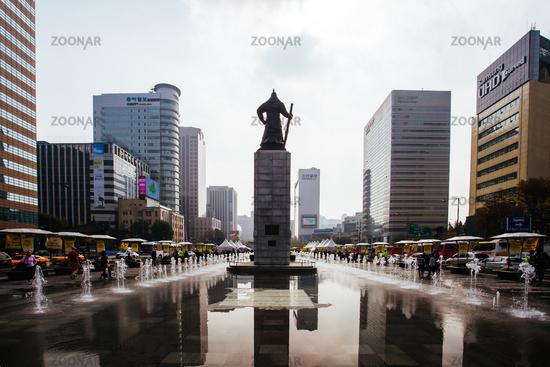 Statue of Admiral Yi Sun Shin in South Korea
