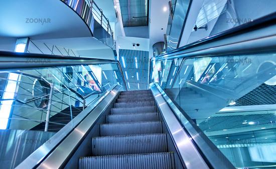 Up escalator at aiport