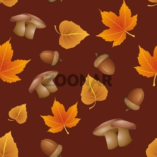 nahtloses Muster - Herbst