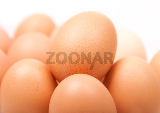 fresh yellow chicken eggs in group