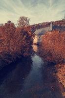Spontin Castle in autumn