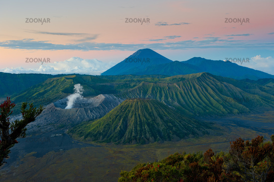 Bromo volcano at sunrise, Java, Indonesia