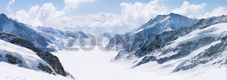 Great Aletsch Glacier Jungfrau Alps Switzerland