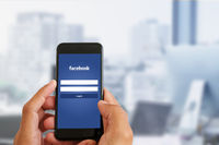 San Francisco, USA - July 2021: Facebook website, login page on mobile phone screen