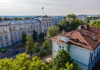 View from a height on the main building of the National Research Tomsk Polytechnic University