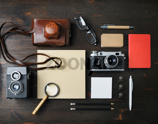 Stationery and retro camera