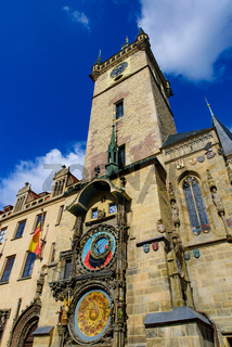 Astronomical Clock Tower at Old Town Square in Prague, Czech Republic