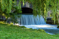 water of the isar in The English Garden, Munich, Germany.