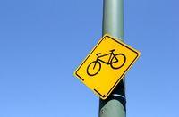 Verkehrsschild Fahrrad