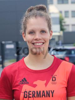 deutsche Schwimmerin Isabel Gose SC Magdeburg bei Verabschiedung für Tokio Olympia 2021