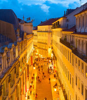 Old Town shopping street Lisbon
