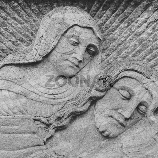 Bas-relief of Virgin Mary And Jesus
