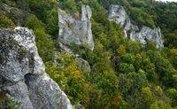 Naturpark Obere Donau; Blick zur Burgruine Gebrochen Gutenstein; Baden Württemberg, Deutschland