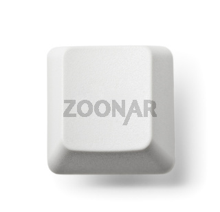 Blank computer key on white