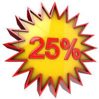 Star off twenty five percent