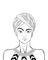 African woman sketch