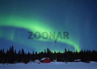 Nordlicht am Altajärvi bei Kiruna