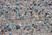 Open storage of solid waste garbage