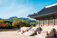 Autumn of Gyeongbokgung Palace in Seoul, Korea