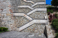 Stairs to the Bratislava Castle