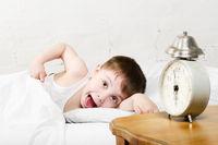 Boy waking up
