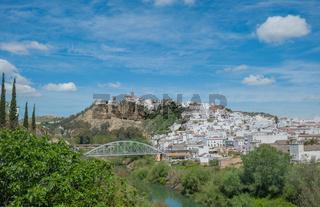 Panorama of Arcos de la Frontera, Andalusia, Spain