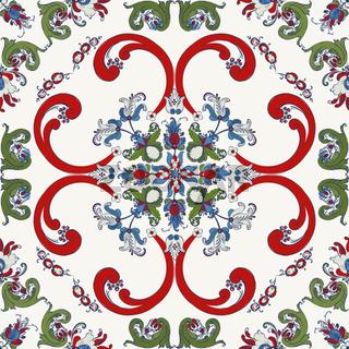 Rosemaling vector pattern 31