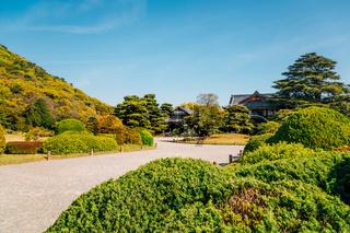 Ritsurin Park, Japanese traditional garden in Takamatsu, Japan