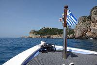 Bootsausflug bei paleokastritsa, Korfu