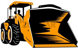 construction bulldozer  digger mechanical excavator