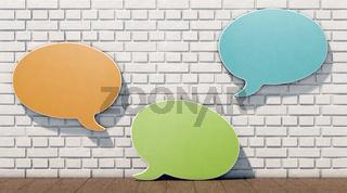 Sprechblasen & Ziegelwand, Mitbestimmung, Meinungsvielfalt...