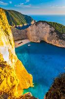 Famous Greek island of Zakynthos