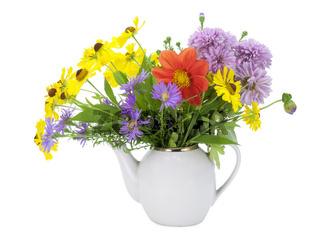 Flowers tea concept