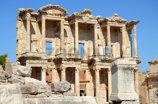 Roman Library of Celsus in Ephesus (Efes) from Roman time