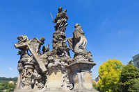 Statue on Charles Bridge, Prague, Czech Republic