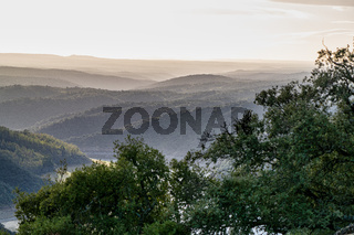Landscape view of Monfrague National Park. Caceres, Extremadura, Spain