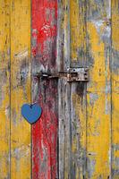 Türschloss mit Herz