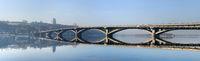 Panorama Metro bridge river Kiev