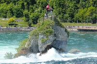 Impression of Rhinefall. Waterfall in Swizerland - Biggest in Europe.