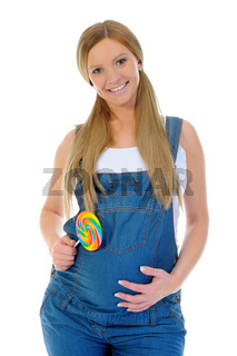beautiful young pregnant woman