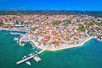 Adriatic town of Pirovac panoramic aerial view