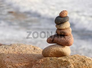 Steine am Strand la Spiaggetta, Sardinien
