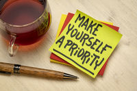 Make yourself a priority advice