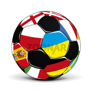Soccer Ball with Flags