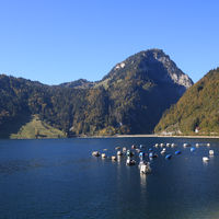 Autumn scene in Innerthal, Schwyz Canton.