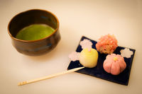 Green tea and sweets image